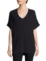 Vince Elbow Length Sleeve Ribbed Tunic Heather Carbon