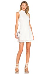 Lucca Couture Mock Neck Tank Dress White