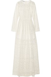 Philosophy Di Lorenzo Serafini Macrame Lace Maxi Dress White