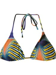 Blue Man Graphic Triangle Bikini Top