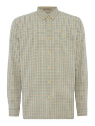 Howick Men's Hockley Checked Long Sleeve Shirt Grey Marl