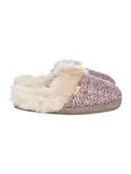 Totes Knitted Mule Slipper Purple