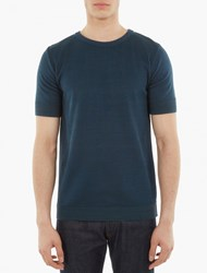 S.N.S. Herning Blue Knitted Short Sleeve Sweater