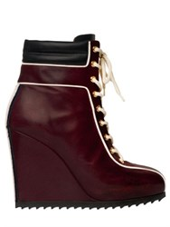Tommy Hilfiger Collection 120Mm Leather Sneaker Wedges