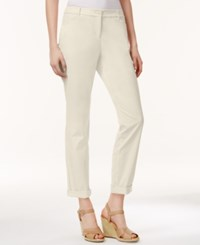 Charter Club Petite Slim Fit Rolled Chino Pants Only At Macy's Sand