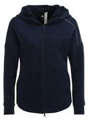 Adidas Performance Z.N.E. Travel Tracksuit Top Storm Heather Coll Navy Mottled Dark Blue