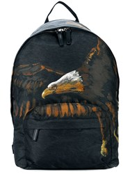 Etro Eagle Print Backpack Black