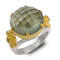 Emma Chapman Jewels Opium Green Amethyst And Peridot Ring