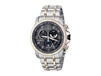 Citizen By0106 55H Eco Drive Chrono Time A T Two Tone Stainless Steel Dress Watches Silver