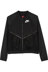 Nike Tech Mesh And Shell Bomber Jacket Black