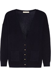 Vanessa Bruno Esprit Wool And Cashmere Blend Cardigan Midnight Blue