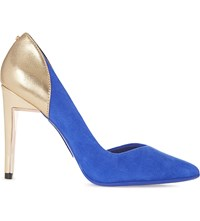 Ted Baker Giulla Suede And Leather Courts Blue