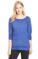 Women's Caslon Burnout Sweatshirt Blue Mazarine