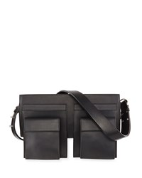 Cnc Costume National Utility Style Leather Shoulder Bag Black Costume National