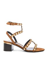 Burberry London Suede Philly Sandals In Brown