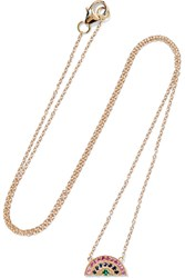 Andrea Fohrman Rainbow 14 Karat Gold Multi Stone Necklace