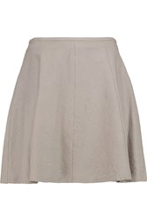 Muubaa Leather Mini Skirt Gray