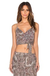 Zimmermann Epoque Wrap Top Gray