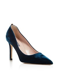 Sarah Jessica Parker Sjp By Fawn Velvet Pointed Toe High Heel Pumps 100 Bloomingdale's Exclusive Petrolio Teal