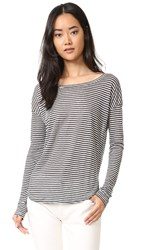 Paige Bess Tee Phantom With White Stripe