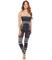 Adidas By Stella Mccartney Yoga Seamless All In One Ax7339 Black White Women's Jumpsuit And Rompers One Piece