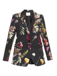 Adam By Adam Lippes Boutique Floral Print Wool Blazer