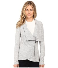 Brigitte Bailey Hacci Asymmetrical Jacket Heather Grey Women's Coat Gray