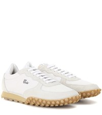 Off White Vintage Runner Suede And Fabric Sneakers White