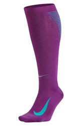 Nike Women's 'Elite' Knee High Socks Cosmic Purple Omega Blue