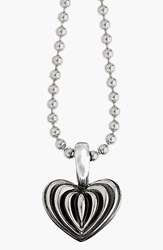Lagos Women's Sterling Silver Heart Long Pendant Necklace