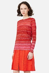 Proenza Schouler Tissue Printed Jersey T Shirt Red Sand Stripe