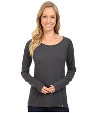 The North Face Long Sleeve Flashdry Top Tnf Dark Grey Heather Women's Long Sleeve Pullover Gray