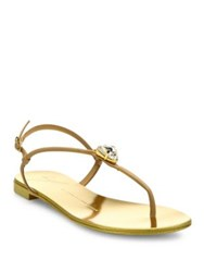 Giuseppe Zanotti Leather Crystal Thong Sandals Rosita