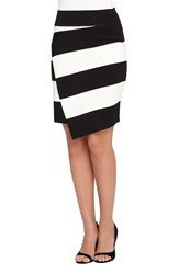 Women's Catherine Catherine Malandrino 'Dash' Stripe Faux Wrap Skirt
