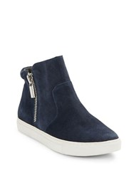 Kenneth Cole Kiera Suede Booties Navy Blue