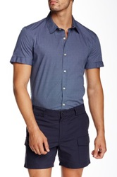 Parke And Ronen Biscayne Slim Fit Casual Shirt Blue