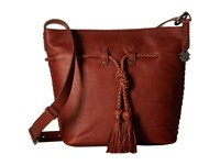 Lucky Brand Shadow Crossbody Bucket Brandy Cross Body Handbags Brown