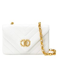 Chanel Vintage Quilted Crossbody Bag White