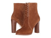 Michael Kors Odile Luggage Black Gold Sport Suede Smooth Calf Women's Boots Brown