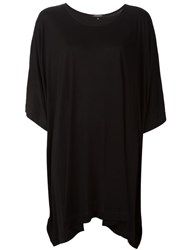 Unconditional Draped Long Oversize T Shirt Black
