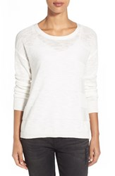 Women's Two By Vince Camuto Marled Crewneck Sweater New Ivory