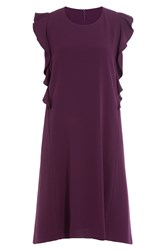 Carven Dress With Ruffles Purple