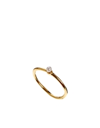 Asos Limited Edition Fine Faux Pearl Pinky Ring Cream