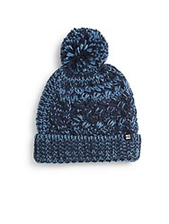 Block Headwear Chunky Knit Pom Pom Cap Navy