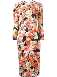 Givenchy Fitted Floral Jersey Dress Multicolour
