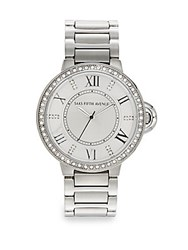 Saks Fifth Avenue Stainless Steel And Swarovski Crystal Crown Watch Silver