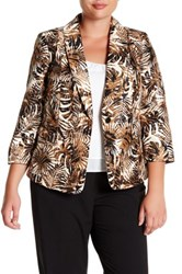 Kasper Shatung Jacket Plus Size Multi