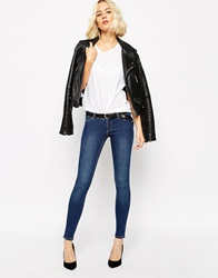 Cheap Monday Ankle Length Skinny Jeans Midblue