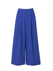 2Nd Day Flowi Wide Leg Trousers Blue Blue
