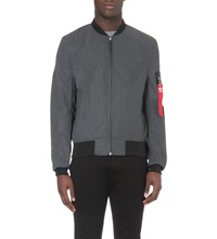Alpha Reflective Bomber Jacket Black